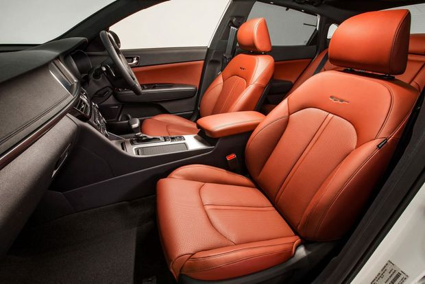 TEMPTING: GT Optimas come with leather, with red trim a no-cost option to liven up the classy cabin