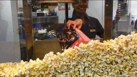 Popcorn and floss - the ultimate combo.