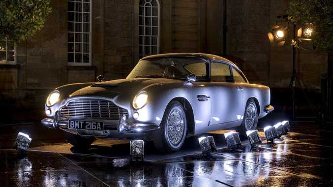 Iconic Aston Martin DB5 from the James Bond film Goldfinger at an event at Blenheim Palace, England. Photo: Max Earey.