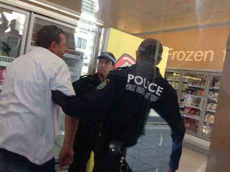 TWU protest ends in arrests as 10 union activists are removed from a Paramatta Coles by police. Photo Contributed