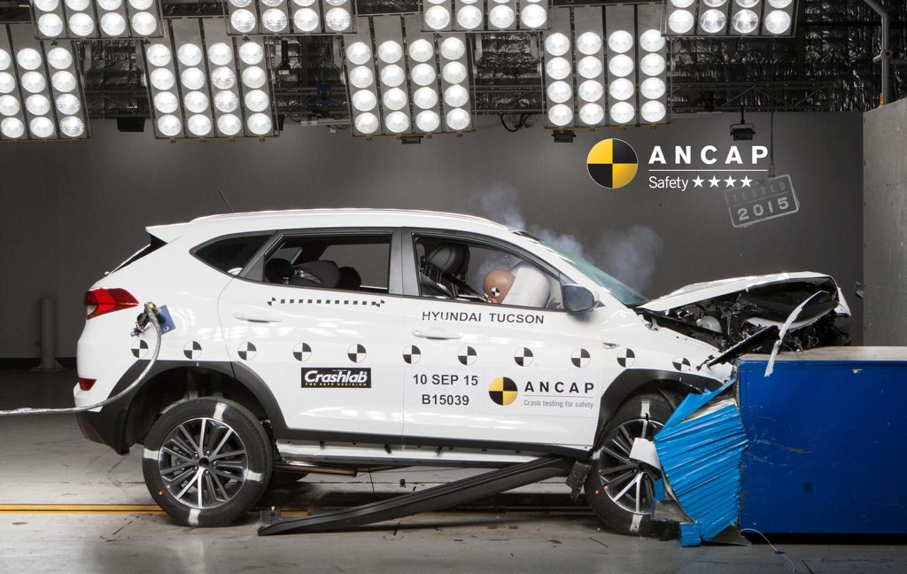 BAD RESULT: Hyundai said it will make design and production changes to its new Tucson SUV after it scored only 4 stars in ANCAP testing