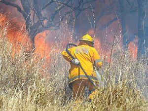 Sleepless in fire battle, volunteers in the line of fire