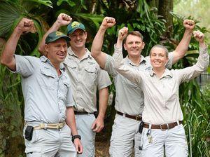 Australia Zoo team gathers to feed croc for Steve