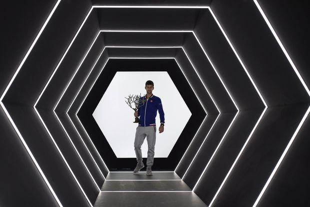 Serbia's Novak Djokovic after winning the ATP World Tour Masters 1000 indoor tennis tournament in Paris. Photo: AFP PHOTO / FRANCK FIFE