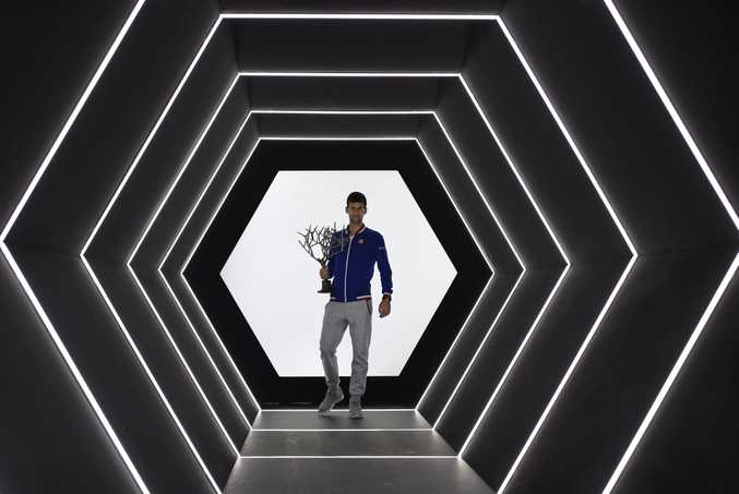 Serbia's Novak Djokovic after winning the ATP World Tour Masters 1000 indoor tennis tournament in Paris. Photo: AFP PHOTO / FRANCK FIFE