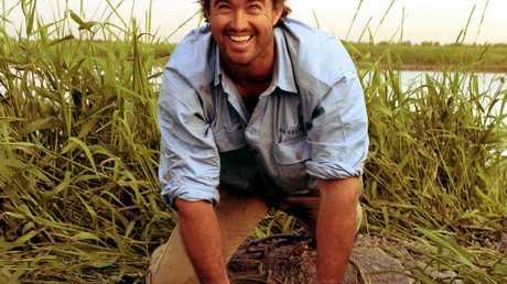 Matt Wright in a scene from the TV series Outback Wrangler.