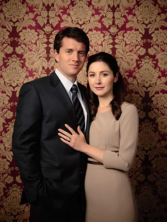 Ryan O'Kane and Emma Hamilton star in the TV movie Mary: The Making of a Princess.