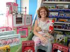 Owner of Let The Children Play, Ally Blines with some of the popular items customers have already snapped up for Christmas.