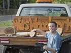 WILL'S WOODWORK: William Denny to be part of CPL twilight markets with his woodwork for sale. Thursday, Nov 12, 2015 . Photo Nev Madsen / The Chronicle