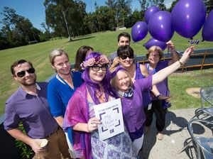 College unites in sea of purple to increase awareness