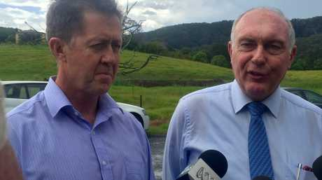 Acting Prime Minister and Minister for Infrastructure and Regional Development Warren Truss today viewed the potential route for the proposed Coffs Harbour Bypass with Cowper MP Luke Hartsuyker.