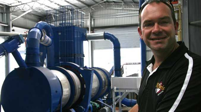 Matt Kriaris from Kriaris Recyclables and Packaging standing with the Glass Beneficiation Plant
