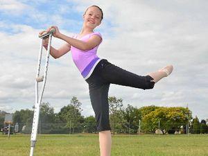 Nanango dancer takes phrase 'break a leg' literally