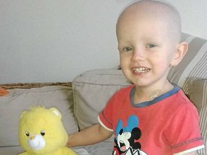 Casino toddler battling cancer is still in good spirits