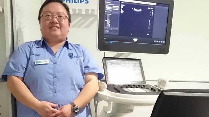 CAREER SET: Medical Sonography student Tanya Au Yeung pictured at Benson Radiology in Adelaide where she works as a sonographer assistant.