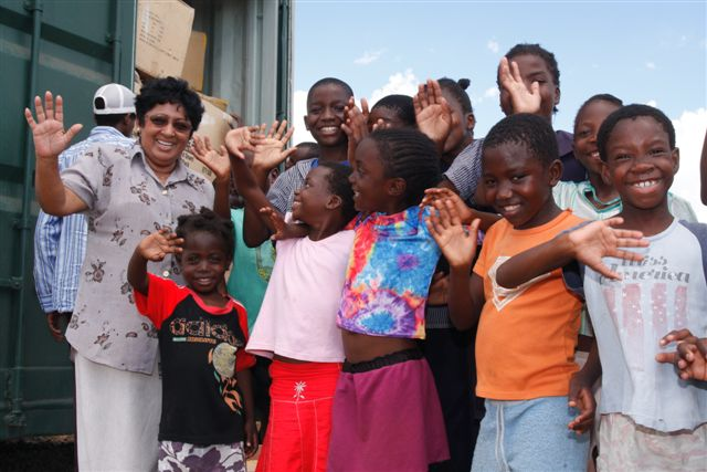 Ranji Chara and some of the Ebenezer kids at the Ebenezer Childrens Village