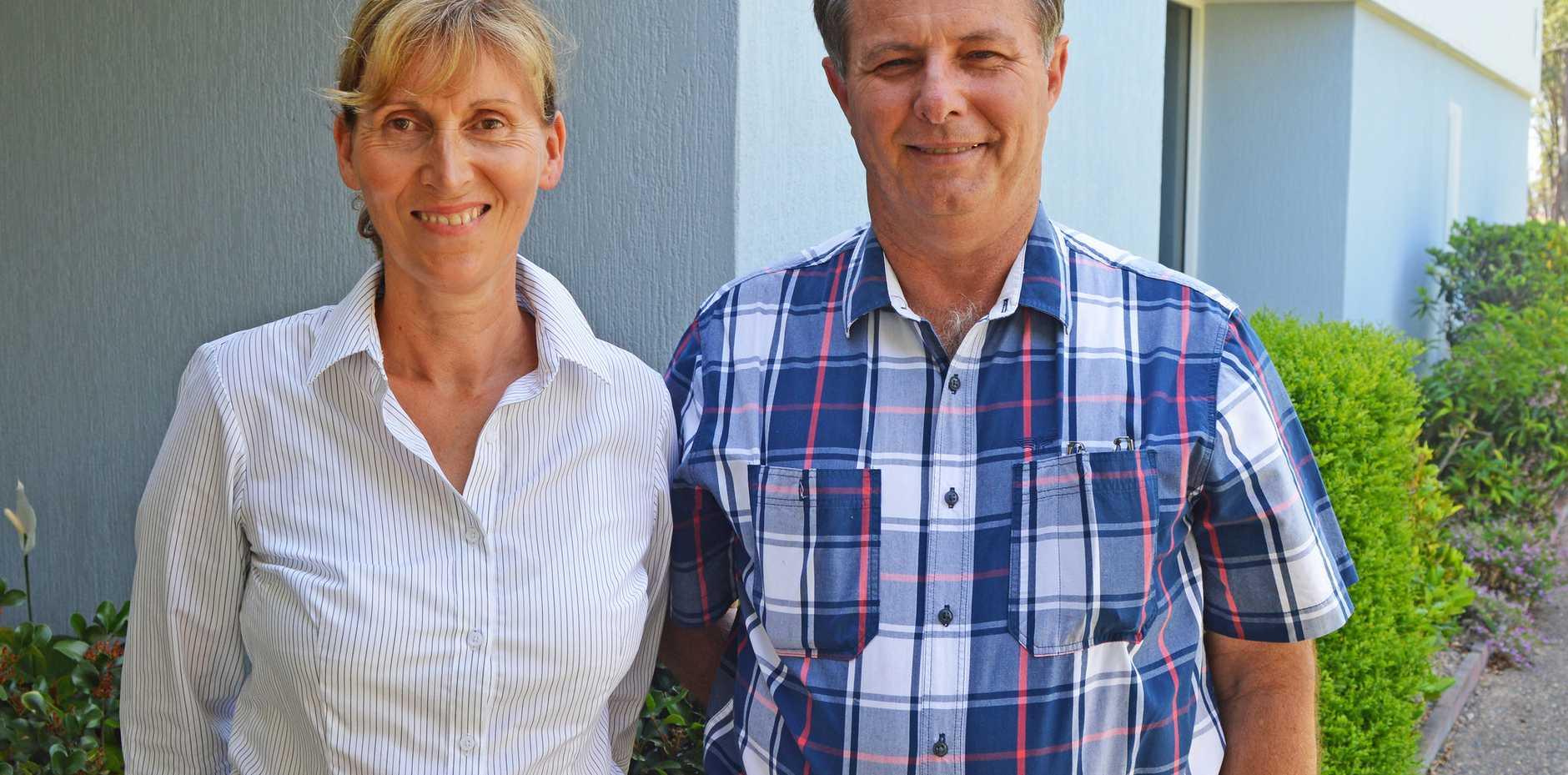 Beautician Margot Borovac and cane farmer Ross Protani.