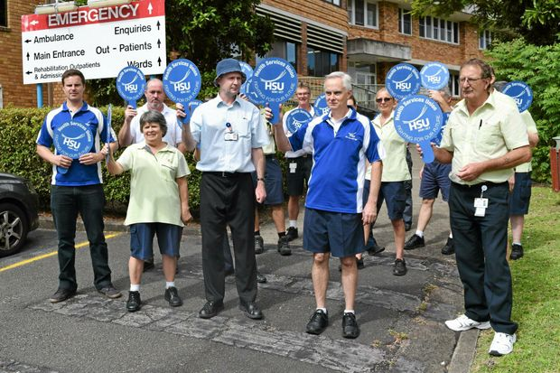 TIME FOR ACTION: Murwillumbah hospital cleaners and ward staff will strike indefinitely from Monday.