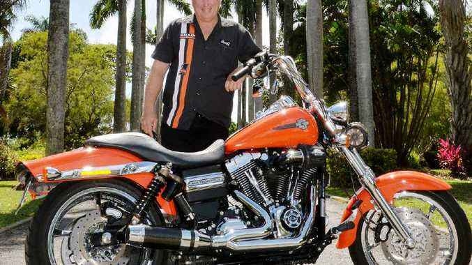 PRIDE AND JOY: Mackay's Rob Faux with his beloved Harley.
