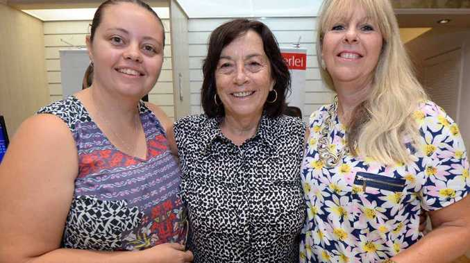 LAST DAYS: Rebecca Lingerie in Stockland shopping centre will close its doors for the last time but staff Angela Buchanan, Carey Hams and Cindy Tranberg will stay firm friends.
