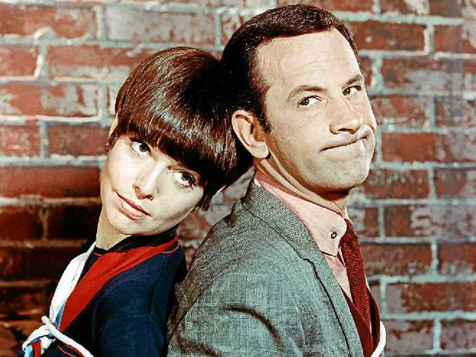 SMART PAIR: Barbara Feldon as Agent 99 with Don Adams, who played Agent 86 Maxwell Smart, in the hit TV series Get Smart.