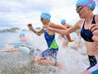 ACTION PACKED: Competitors start the race at Lake Kawana yesterday.