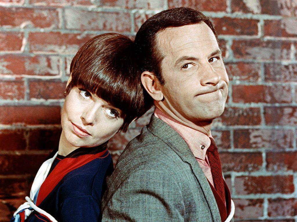 Get Smart stars Barbara Feldon and Don Adams.