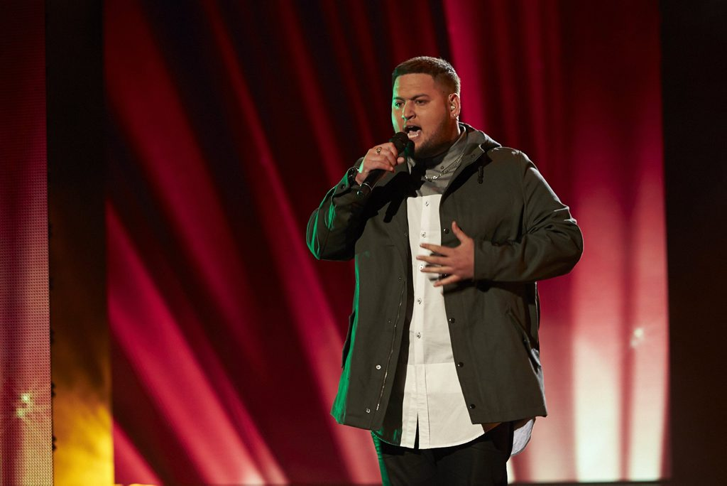 The X Factor finalist Big T, real name Tangaroa Te Tai.