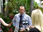 Detective Sergeant David Harbison talks to media outside the Maroochydore Police Station. Photo: Che Chapman / Sunshine Coast Daily