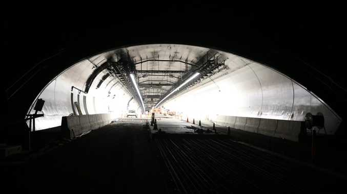 A view of highway upgrade and tunnell that runs under St Helena's Hill at Ewingsdale.