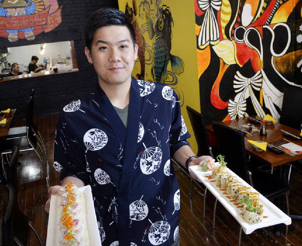 PASSIONATE: King Wong from Papa Sushi and Bar.