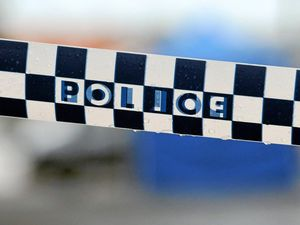 Police set up crime scene at Ipswich unit