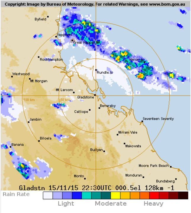 Showers move southeast along the coast at 8.30am.