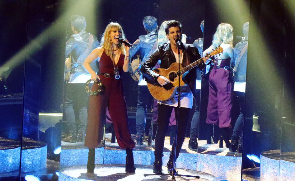 Jess & Matt perform I Was Made for Loving You on The X Factor.
