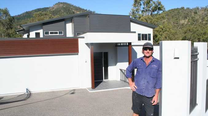 Ben Hooper, director of Hooper Construction, outside the Retreat Avenue home he built which won him the Master Builders House of the Year Award for the second year in a row. Photo Rachael Conaghan / The Morning Bulletin