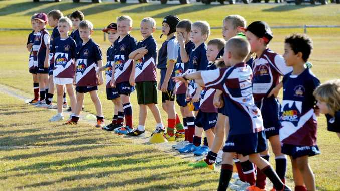 Group of kids at Junior Rugby Union.