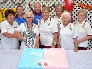 Bowls Club Members 80th Birthday