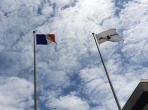 French flag raised