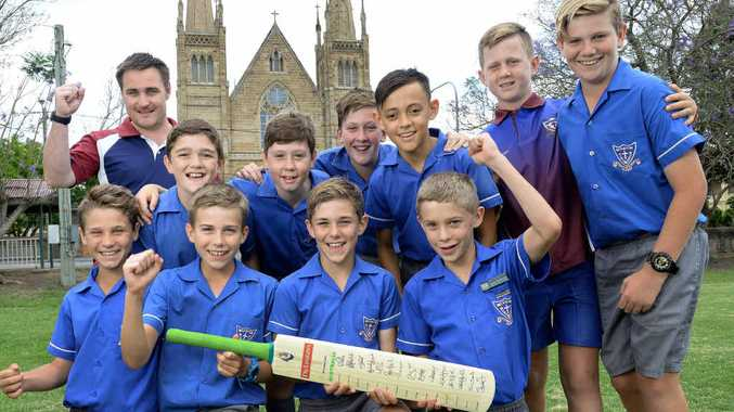FINE FEAT: The St Mary's Primary School cricket team that reached the state final.