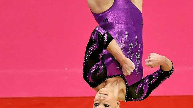 TOP ATHLETE: Australia's Larrissa Miller competes on the floor during the second day of the 2015 World Gymnastics Championship in Glasgow, Scotland, on October 24.