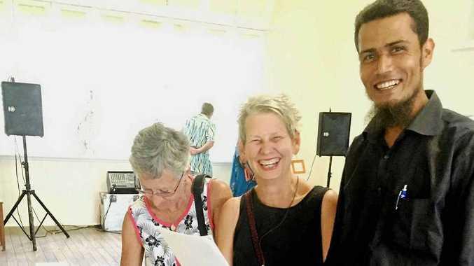 Sallie Matta, Pam Purton and Amir Hossain Photo: Contributed