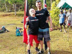 Bill battles on to complete Kokoda Track