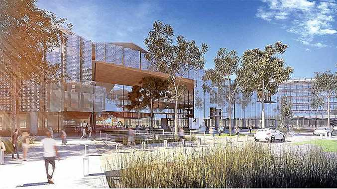 An artist's impression of the planned new University of the Sunshine Coast campus at Gympie. PHOTO: Contributed