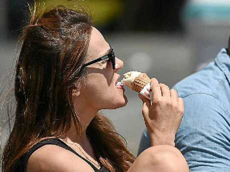 LICK THE HEAT: Two people took matters into their own hands in summer heat early this year. Australia had its third hottest year on record last year.