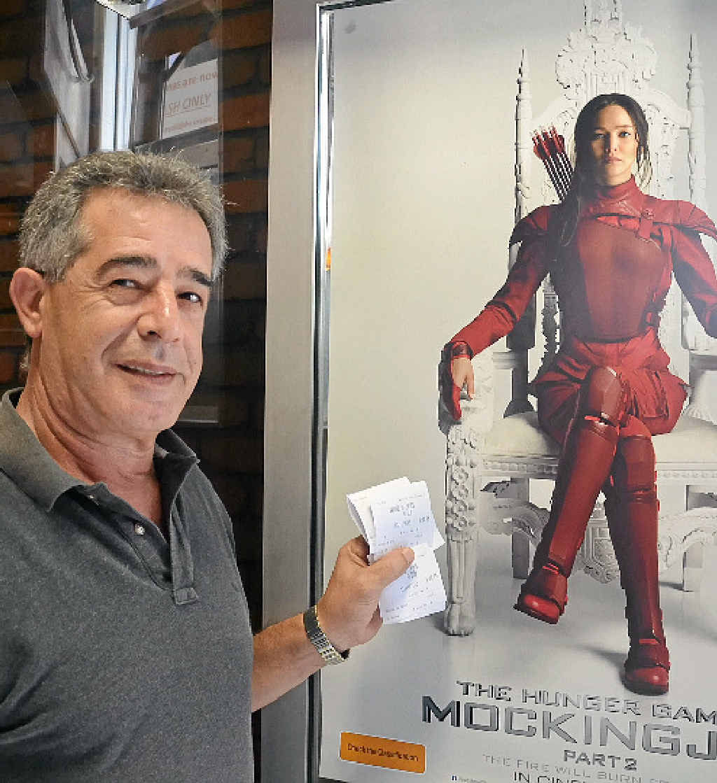 LATE SCREENING: Cinema owner Michael Kairouz still has tickets left for the midnight release of the new Hunger Games movie.