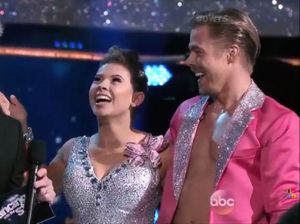 Bindi Irwin pretty in pink as she salsas towards DWTS final