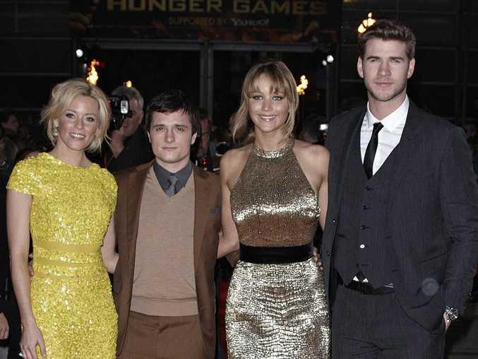 Hunger Games stars Elizabeth Banks, Josh Hutcherson, Jennifer Lawrence and Liam Hemsworth