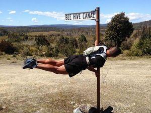 WATCH: Runner pauses in trek for a little twerking in Tassie