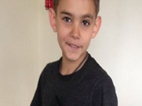 The 10-year-old boy (pictured) is described as of Aboriginal appearance with a slim build. He was last seen wearing black shoes with three white stripes on the side, dark grey t-shirt with coloured 'AVENGERS' print on the front.