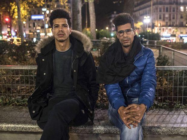 Khaled Saadi, 27, left, was working at La Belle Equipe restaurant when the gunmen opened fire.